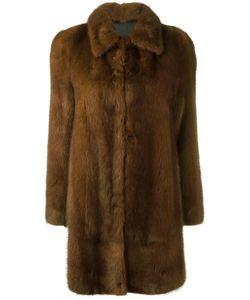 Blancha | Buttoned Mid Coat 42 Mink Fur/Viscose