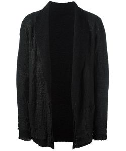 SALVATORE SANTORO | Coated Shawl Lapel Jacket 52 Cotton/Leather