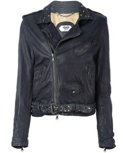 Pihakapi | Studded Lapel Biker Jacket Medium Leather/Viscose