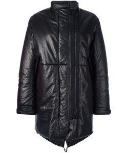 Ahirain | Zipped Mid Coat Small Calf Leather