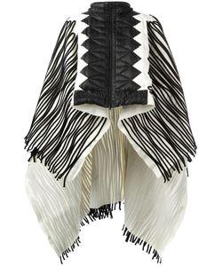 Aviù | Ribbed Zipped Poncho 40 Virgin Wool/Polyamide/Goose Down