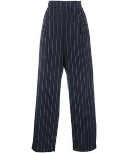 Ganni | Pin Stripe Wide-Leg Trousers 36 Polyester/Rayon/Spandex/Elastane