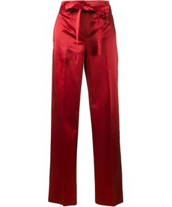 Helmut Lang | Satin Wide-Leg Trousers 2 Cupro/Cotton
