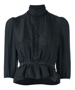 Dsquared2 | Victorian High Collar Blouse Womens Size 40 Silk/Cotton/Polyamide