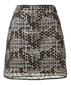 Milly | Sequined Short Skirt 6 Sequin/Nylon