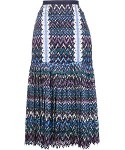 Saloni | Pleated Midi Skirt 6 Polyester