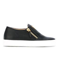 Giuseppe Zanotti Design | Zipped Sneakers 38 Calf Leather/Leather/Rubber