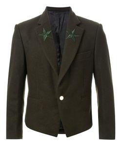DRESS CAMP | Dresscamp Star Embroidered Lapel Blazer 46 Nylon/Wool