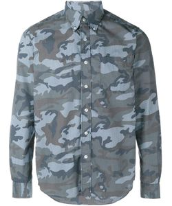 Sophnet. | Stripe Camouflage Long Sleeve Shirt Small Cotton