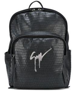 Giuseppe Zanotti Design | Textured Backpack Leather/Metal/Polyamide