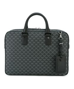 Emporio Armani | Printed Briefcase Polyester/Pvc/Polyurethane/Calf Leather