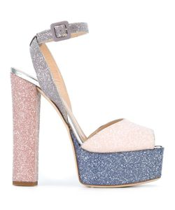 Giuseppe Zanotti Design | Betty Glitter Sandals 39 Leather/Pvp/Calf