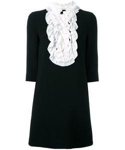 BOUTIQUE MOSCHINO | Ruffled Bib Dress 40 Triacetate/Polyester/Rayon/Polyester