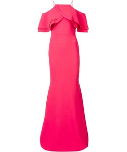 CHRISTIAN SIRIANO | Layered Shoulder Dress 6 Polyester