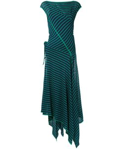 SCANLAN THEODORE | Striped Tie Front Dress S/M Linen/Flax