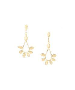 NATASHA COLLIS | Diamond Leaf Hoop Earrings