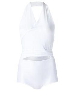 GIULIANA ROMANNO | V Neck Bodysuit Medium Polyamide/Spandex/Elastane