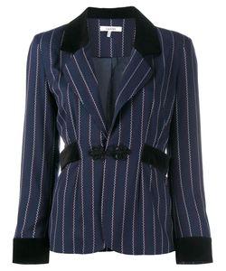 Ganni | Pinstripe Blazer 38 Polyester/Rayon/Spandex/Elastane/Polyester