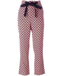 Marni | Geometric Print Trousers 36 Silk
