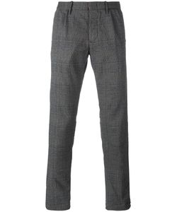 Incotex | Checked Trousers 32 Cotton/Polyester/Spandex/Elastane/Viscose