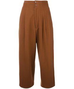 YOHJI YAMAMOTO VINTAGE | Cropped Pleated Trousers Xs