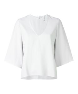 Helmut Lang | Back Overlap Blouse Medium Viscose/Acetate/Silk