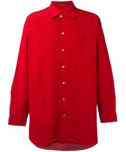 YOHJI YAMAMOTO VINTAGE | Ys Pinstriped Oversized Shirt Large