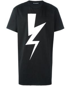 Neil Barrett | Lightning Bolt Print T-Shirt Xl Cotton