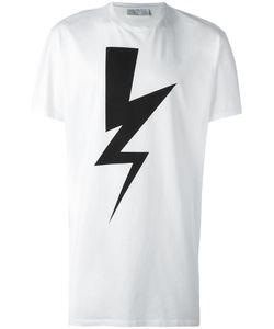 Neil Barrett | Lightning Bolt Print T-Shirt Small Cotton