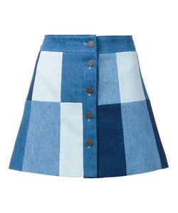 Ines De La Fressange | Buttoned A-Line Skirt 38