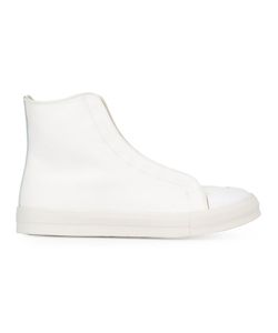 Alexander McQueen | Hi-Top Sneakers 44 Leather/Cotton/Rubber