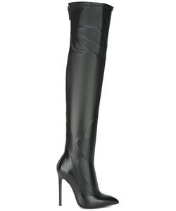 GIANNI RENZI | Thigh-Length Pointed Boots 37 Leather