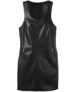 Calvin Klein Jeans | Racer Dress Large Lamb Skin/Polyester