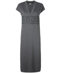 Kenzo | Logo Midi Dress Xs Cotton