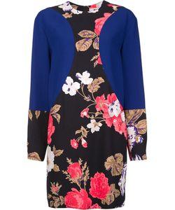 MSGM | Flower Print Longsleeved Dress 44 Viscose