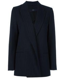 SYSTEM | Pinstripe Blazer Small Polyester/Wool