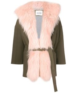 AVA ADORE | Three-Quarters Sleeve Coat 40 Cotton/Spandex/Elastane/Raccoon Dog