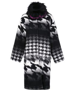AVA ADORE | Houndstooth Pattern Mid Coat 40 Virgin