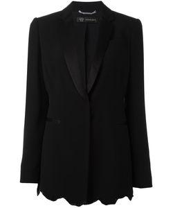 Versace | Angular Sequin Hem Blazer 44 Acetate/Viscose