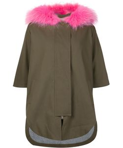 AVA ADORE | Three-Quarters Sleeve Hooded Coat 42 Cotton/Spandex/Elastane/Raccoon