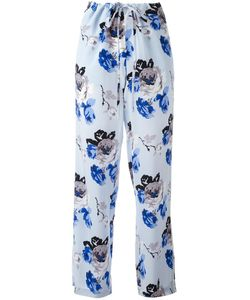 Theory | Print Trousers Large Silk/Polyester
