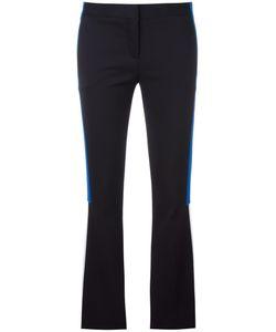 Versace | Appliqué Stripe Flared Trousers 40 Cotton/Polyamide/Spandex/Elastane/Silk