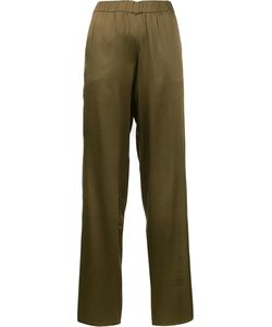 P.A.R.O.S.H. | Elasticated Waistband Flared Trousers 42 Silk/Spandex/Elastane