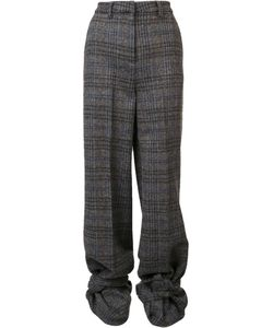 Y / PROJECT | Checked High Waisted Trousers 36