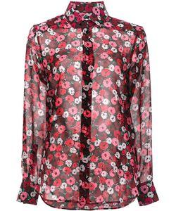 Saint Laurent   Paris Collar Printed Shirt 40 Silk