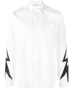 Neil Barrett | Lightning Bolt Print Shirt 41 Cotton