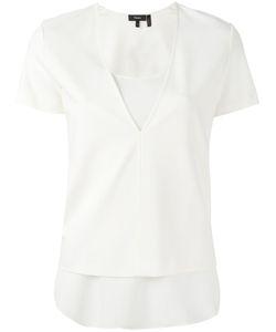 Theory | V-Neck T-Shirt Small Polyester/Viscose/Spandex/Elastane/Silk