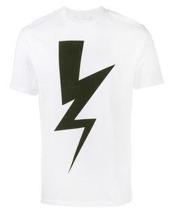 Neil Barrett | Lightning Bolt Print T-Shirt Medium Cotton
