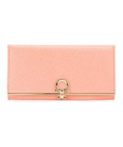 Salvatore Ferragamo   Gancio Flap Wallet Calf Leather