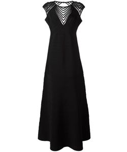 Hervé Léger | Shortsleeved Gown Large Rayon/Nylon/Spandex/Elastane